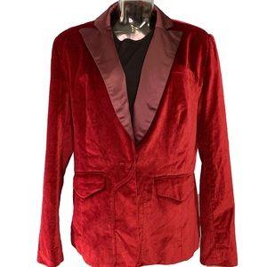 Altuzarra for Target Red Velvet Blazer XL